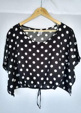 Leve 2 e pague 1 blusas blusinhas femininas cropped bolas verão promoção