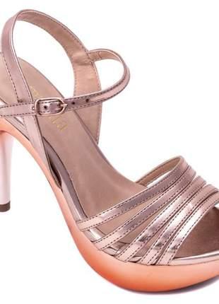 Sandália meia pata  napa rose;