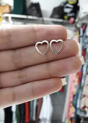 Brinco coração de prata