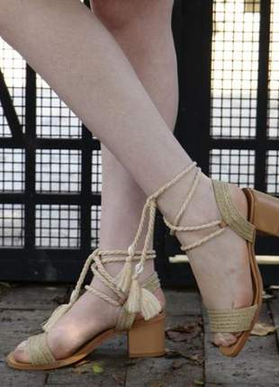 Sandalia corda nude