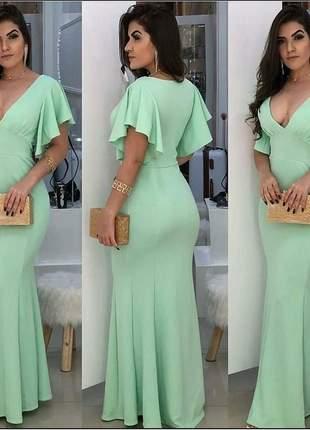 Vestido longo festas verde