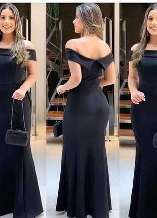 Vestido longo festas preto