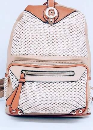 Mochila feminina lançamento moda  verão ! linda detalhes em palha