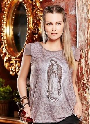 Blusa nossa senhora de guadalupe bordada - coleção ágape