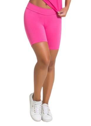 Bermuda feminina fitness em suplex rosa pink