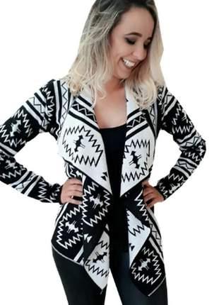 Kimono de lã trico casaco suéter de frio tricot promoção
