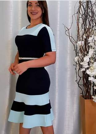 Vestido moda envangelica ref 735