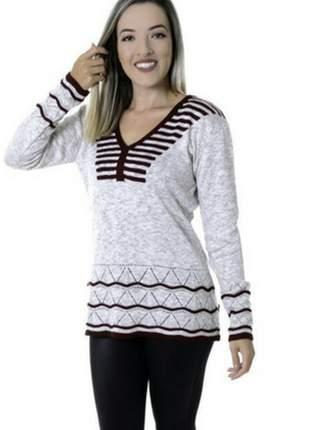 Blusa rendada tricot trico manga longa 2018
