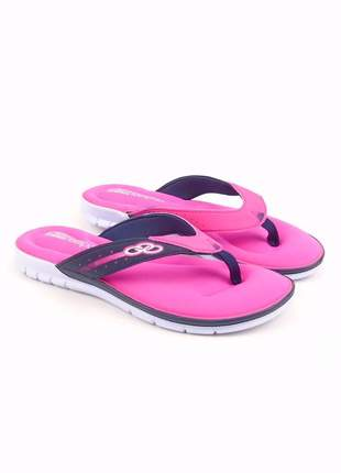 Sandália feminina olympikus venice palmilha feetpad pink/marinho