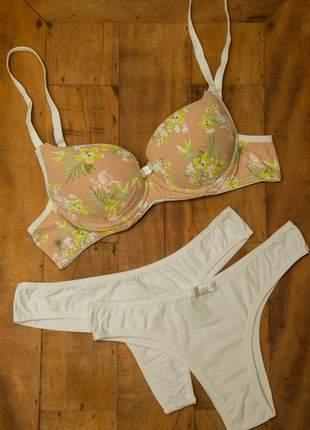 Conjunto agatha duo floral branco