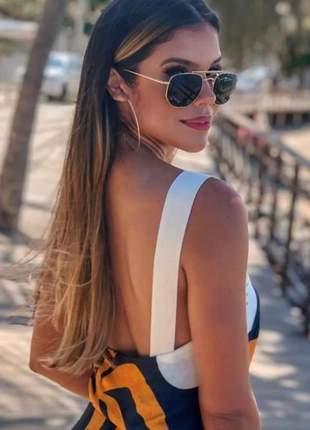Óculos grande quadrado preto estiloso última moda blogueira #la