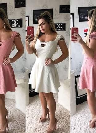 Vestido feminino curto gode ana clara