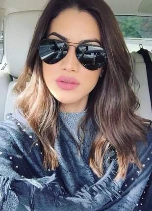 Óculos solar grande feminino aviador modelo novo moda lindo #la