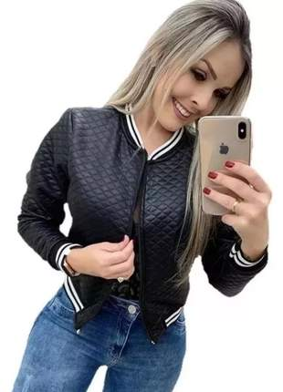 Jaqueta bomber blusa de frio outono inverno casaco feminino #la