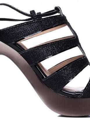 Sandália meia pata festa gliter