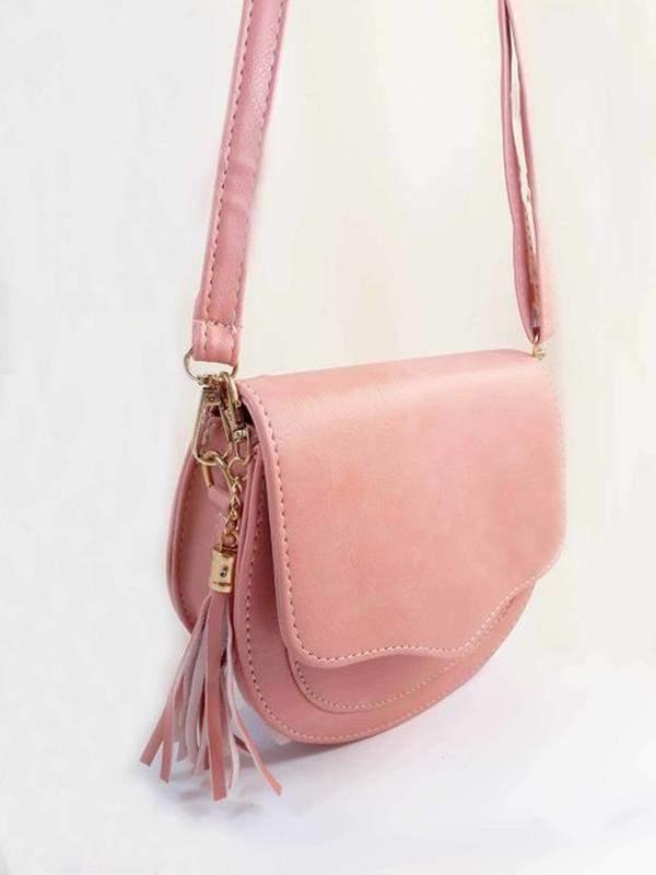 9fb10030d ... Bolsa bag michele rosa - bolsa feminina pequena, tiracolo, de couro  ecológico2