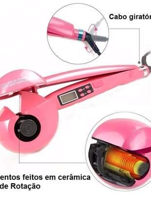 Modelador de cachos babpliiss stylist tools rosa