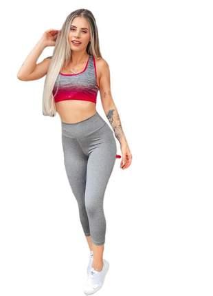 Calça legging capri corsário cintura alta leg ref 75