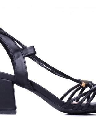 Sandália feminina bloco