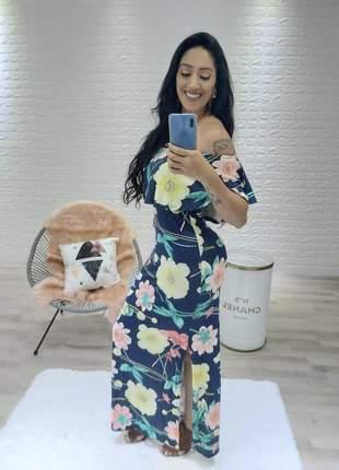 Vestido longo ciganinha com fenda na lateral tendência primavera verão 2020