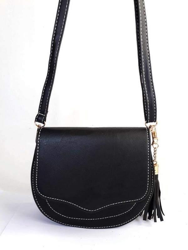 1b8adbeba Bolsa bag michele preta - bolsa feminina pequena, tiracolo, de couro  ecológico1 ...