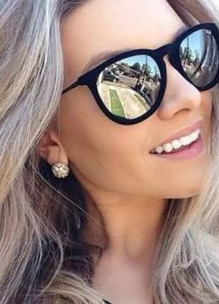 Óculos aveludado veludo espelhado marca famosa moda promoção #la