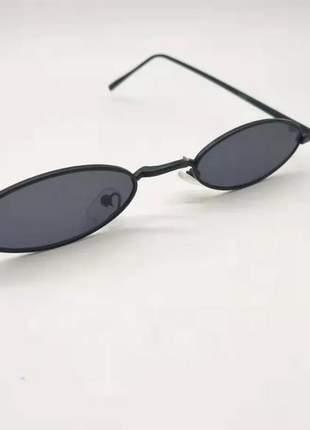 Óculos oval redondo pequeno trap hype retro preto #la