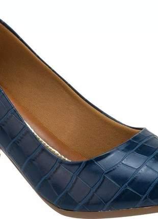 Sapato scarpin confort salto baixo grosso | s02cron.scp #la