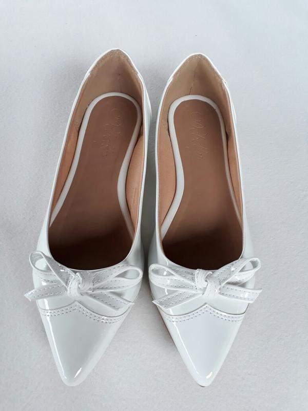 6add77b10 Sapatilha feminina bico fino verniz branco - R$ 65.00 (confortáveis ...