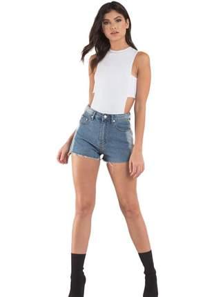 Body feminino detalhe lateral sem manga moda feminina 2020