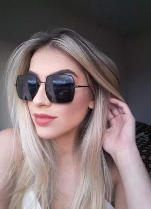 Óculos de sol femenino chic sem aro nova coloeçao #la