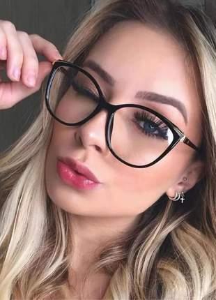 Óculos p/grau armaçaoes acetato metal cat chic estiloso #la