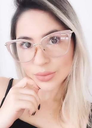 Óculos p/grau femíneo gatinho nova coleção promoção chic #la