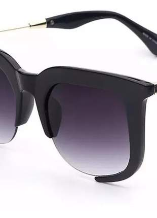 Óculos de sol feminino clássico rasoir grande #fk
