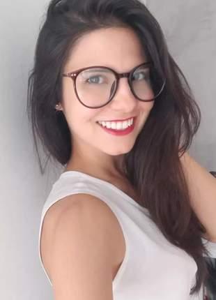 Armacao de oculos grau feminino redondo geek #fk