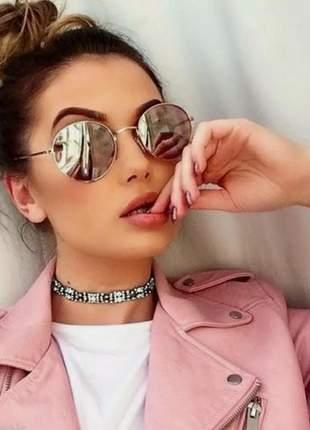 Óculos de sol uv400 espelhado prata feminino praia verão #fk
