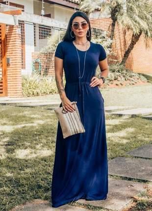 Vestido longo manguinha moda evangélica