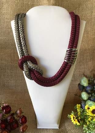 Colares em corda e metal super elegantes