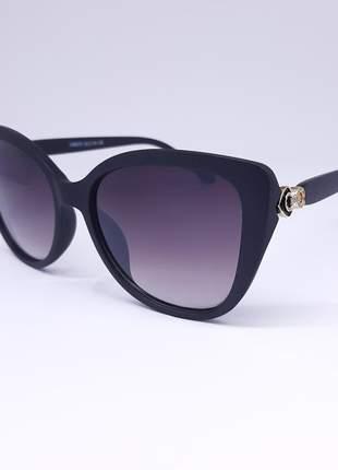 Óculos de sol feminino grande preto - proteção uv