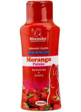 Sabonete intimo feminino aromático morango - 200 ml