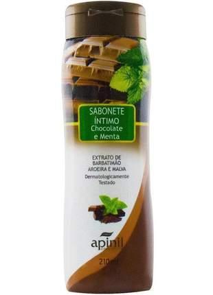 Sabonete intimo feminino refrescante chocolate e menta - 210 ml