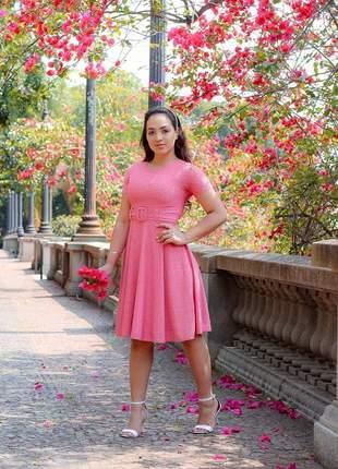 Vestido social feminino moda evangélica+cinto incluso promoção