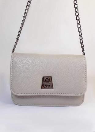 08979f233 Bolsa bag mariana cinza - bolsa feminina de couro ecológico, tiracolo,  casual e social