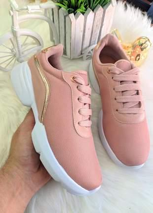 Tenis vizzano rose feminino levíssimo
