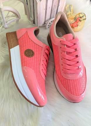 Tenis moleca jogging rosa lançamento
