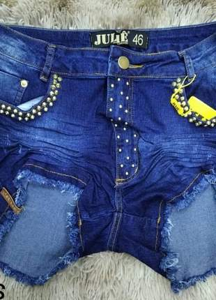 Shorts jeans cintura alta julie plus size