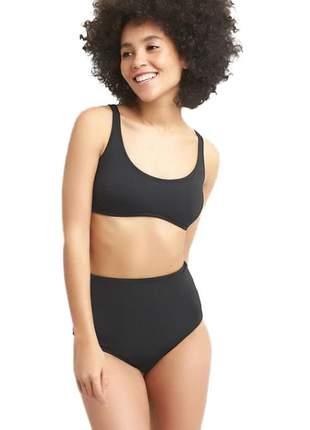 Biquíni cintura alta firme basic line bojo removível moda praia verão 2020