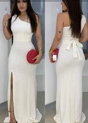 Vestido longo de festa branco