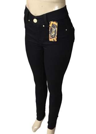 Calça jeans cintura alta com lycra