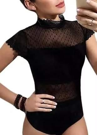 Bory feminino blusa bori renda modeni #la